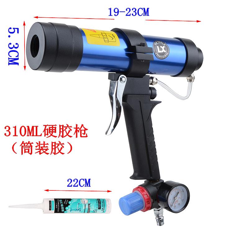 hård gummi 310ml pneumatiske glas lim pistol skummer lim pistol svabere pistol hastighed