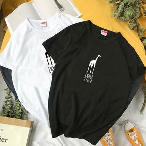 夏季新款男士短袖T恤日系圆领大码宽松体恤休闲半袖男装衣服潮流t