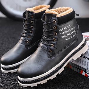 男鞋2018新款冬季男士雪地靴男棉鞋休闲加绒马丁靴户外高帮男鞋