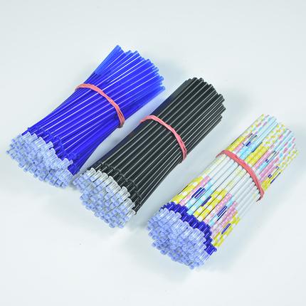 小学生文具可擦笔芯磨魔易擦全针管0.5晶蓝色磨摩易擦学习用品