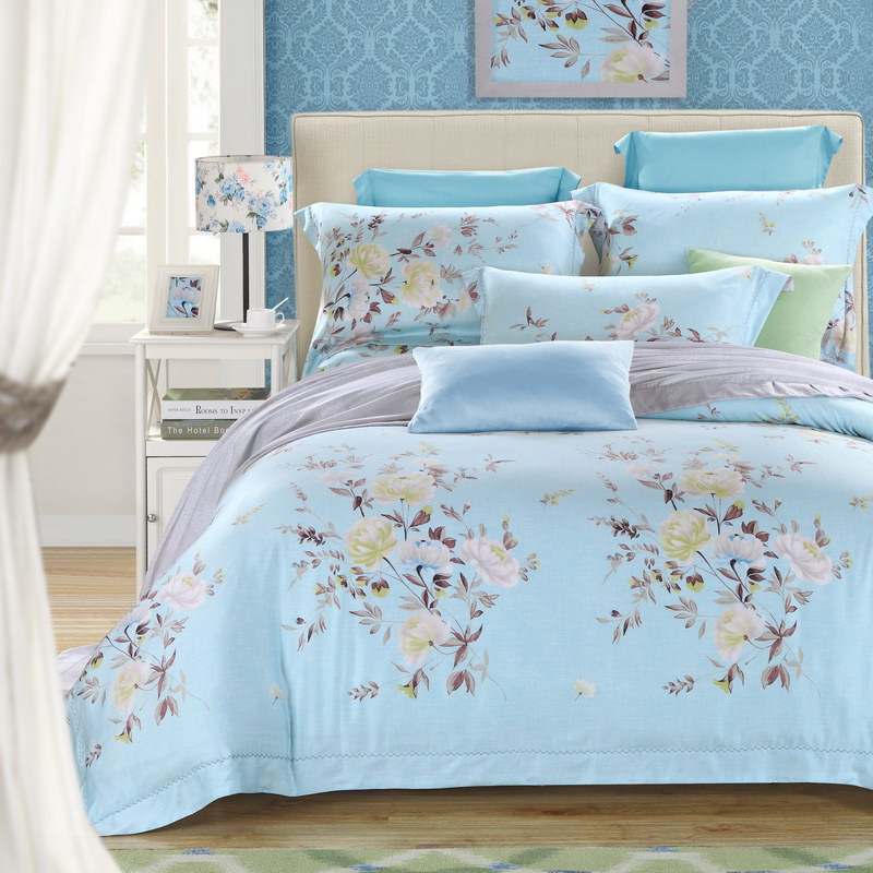 60 double-sided high-grade comfortable pure Tencel four piece spring bed linen bedding and naked wedding