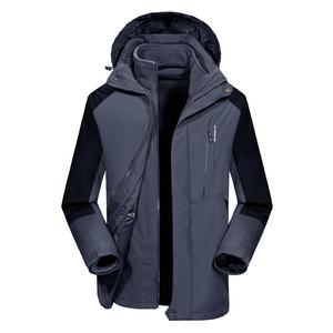 祖玛珑2018新款男士秋冬时尚加绒加厚可拆卸冲锋衣防风衣保暖外套