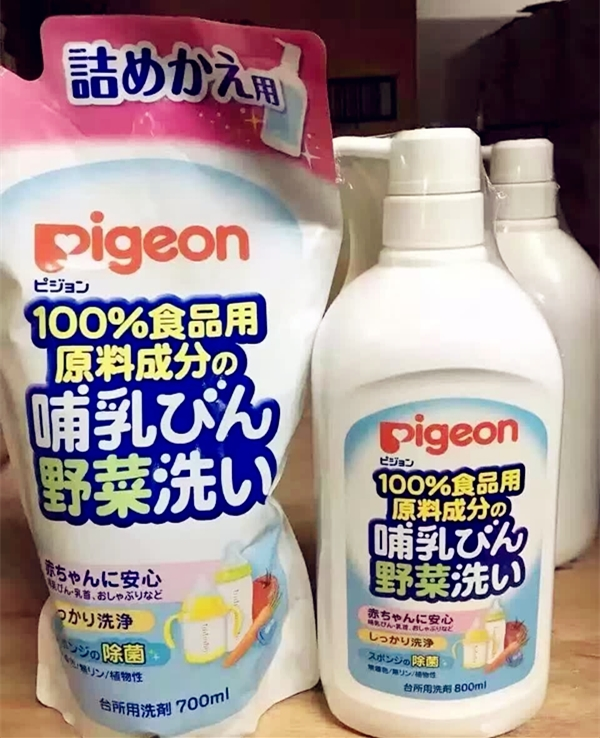 Pigeon baby bottle cleaning agent liquid fruit and vegetable cleaning liquid 700ml replacement bagging 1125