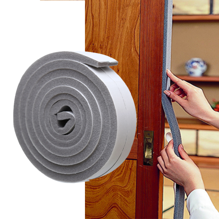 The bottom of the door frame and the door sealing brush dust storm wooden door anti-theft door insulation block gap seal