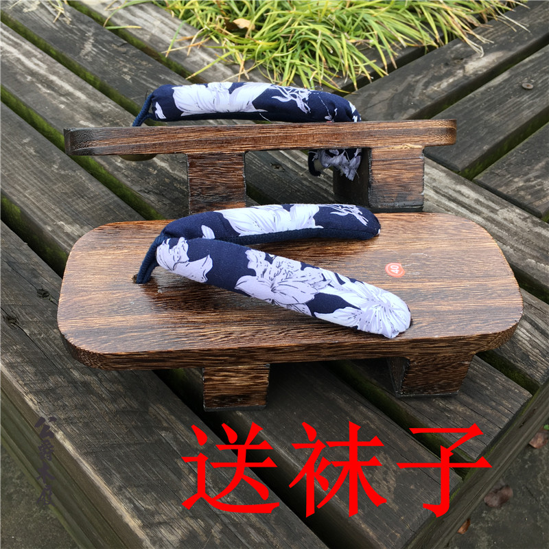 大号新款夏季凉鞋日本木屐男女式男款cos桐烧二齿木屐拖鞋情侣