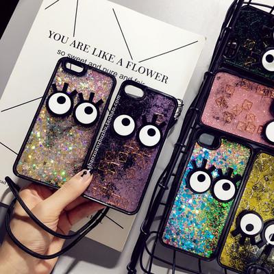 韩国液体流沙壳苹果7plus手机壳流动iphone6s plus个性创意硅胶女
