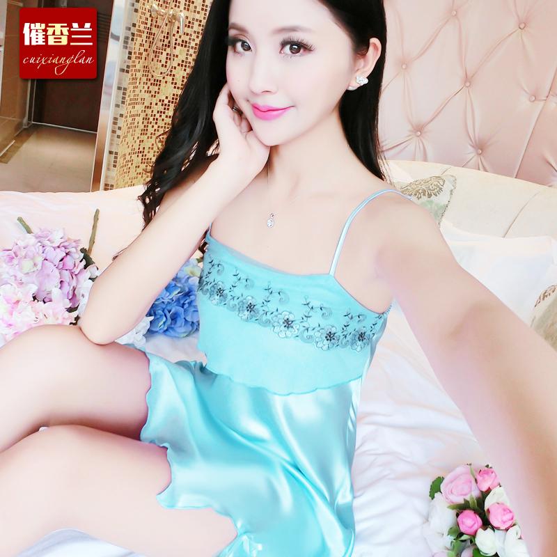 668蓝色睡裙