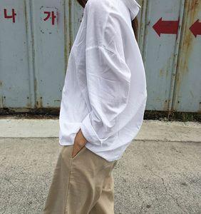 現貨~早春推薦! 韓國 chic #1875 簡約純色長袖襯衫女