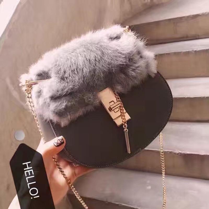 2017新款韩版迷你小猪包拼色磨砂链条包单肩斜挎百搭女包小包包潮
