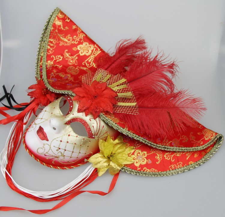 Venice parallel import large cap mask high-end full Handmade full face mask stage decoration mask