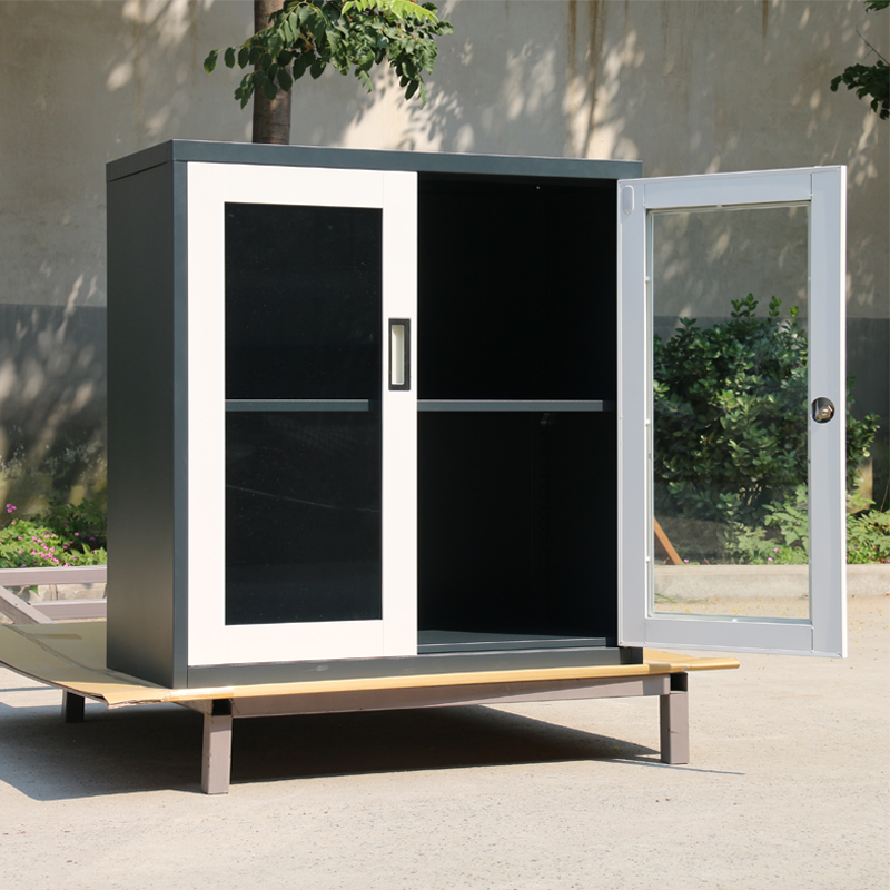 The new glass door cabinet file cabinet office door cabinet door financial dwarf cabinet door