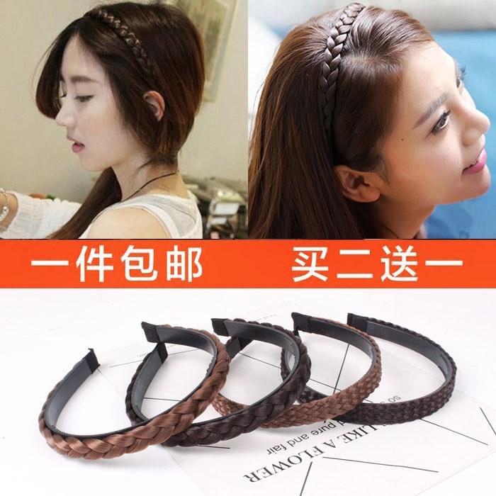 Jóias de Cristal grampo de cabelo Peruca de cabelo Ou com dentes twist - twist braid headband faixa de cabelo Peruca de cabelo