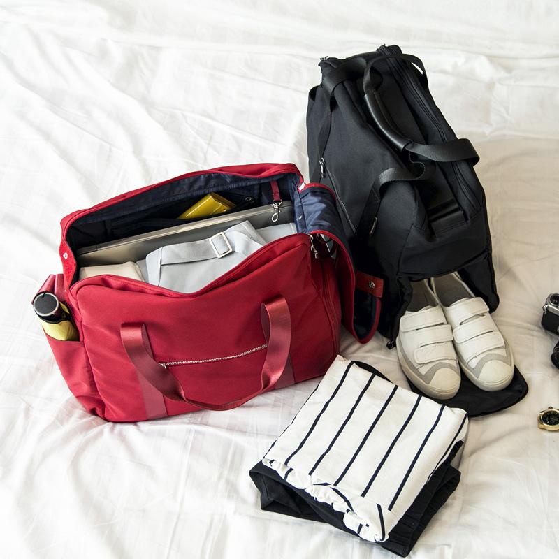 手提旅行包折叠旅行袋女大容量登机防水行李袋可套拉杆包旅游包男