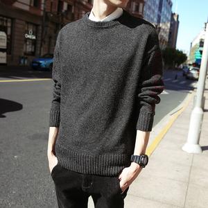 电商A203 100%聚酯纤维毛衣男圆领套头针织衫韩版修身外套709-P68