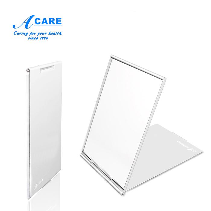 鏡子折疊隨身便攜小號化妝鏡簡約 方形迷你女男士翻蓋超薄韓國