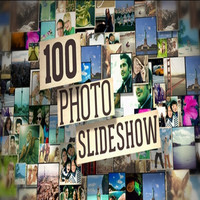100 pictures Photo wall photo album Atmospheric corporate annual title Event opening AE template
