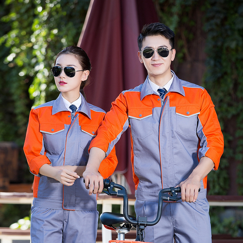 Spring and autumn overalls include men's factory workshops, factory clothes, auto repair machines, labor protection clothes, building workers and workers