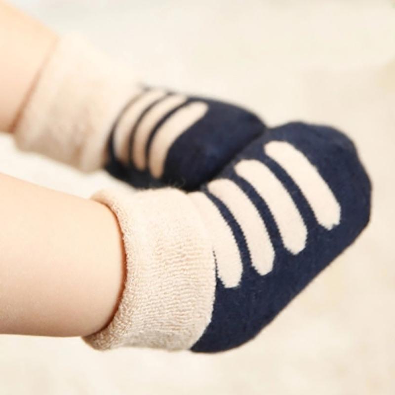 婴儿袜子秋冬0-3-6个月男女童纯棉袜新生儿保暖毛圈宝宝袜子1-3岁