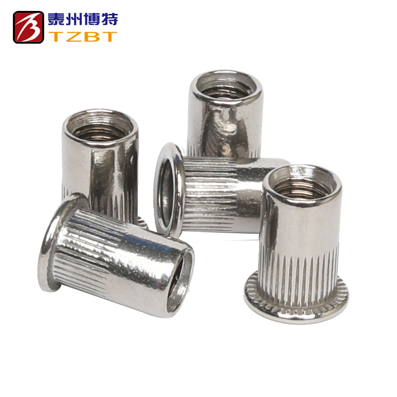 304 stainless steel rolling riveting nut flat head vertical drawing riveting M3M4M5M6M8M10