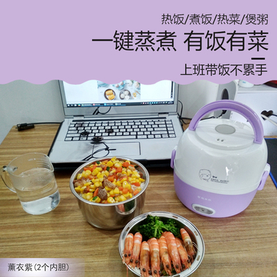 电热饭盒上班族双层多功能插电自动加热蒸饭保温迷你可便携的1人2