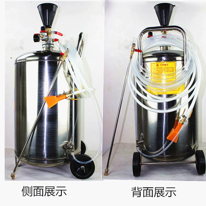 ความปลอดภัยของอากาศ 80L หนา 304 สแตนเลสถังโฟมล้างรถฟรีที่เครื่องไม่มีรอยขีดข่วนเช็ดทำความสะอาดเครื่องเทียนน้ำ