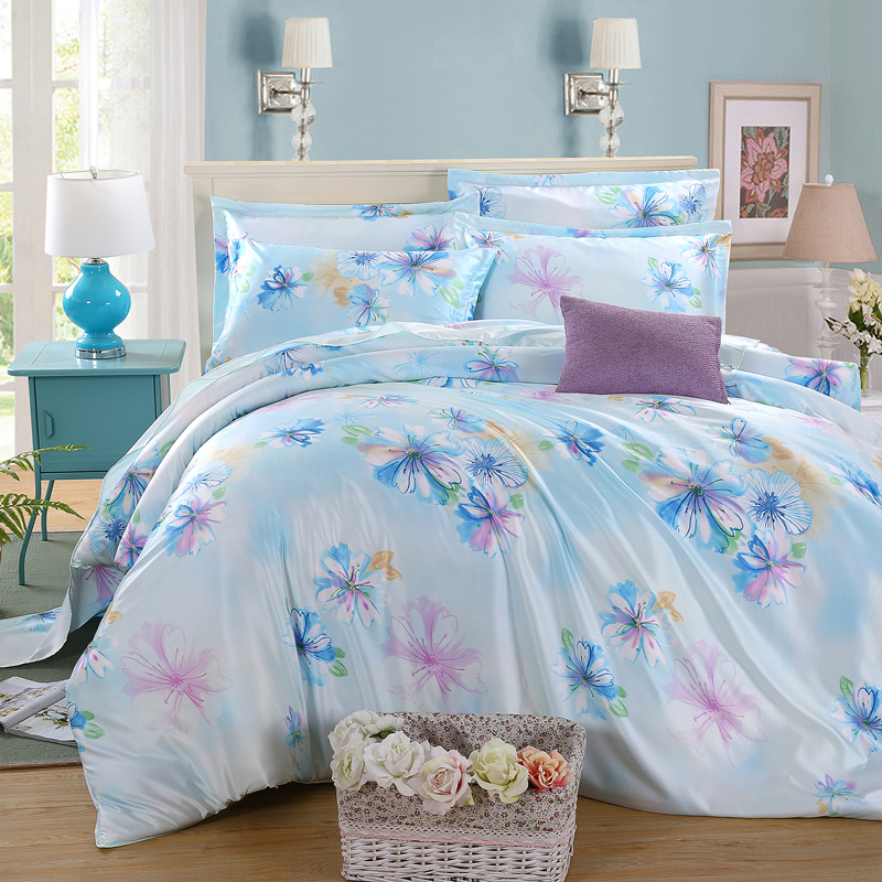 Four sets of bed sheets silk satin silk silk quilt simulation supplies 1.8 days in spring and summer season