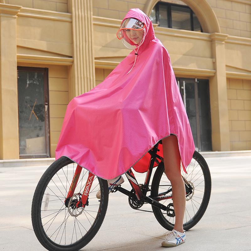 山地车骑行单车学生电动自行车雨衣电动车成人电瓶车雨披单人男女