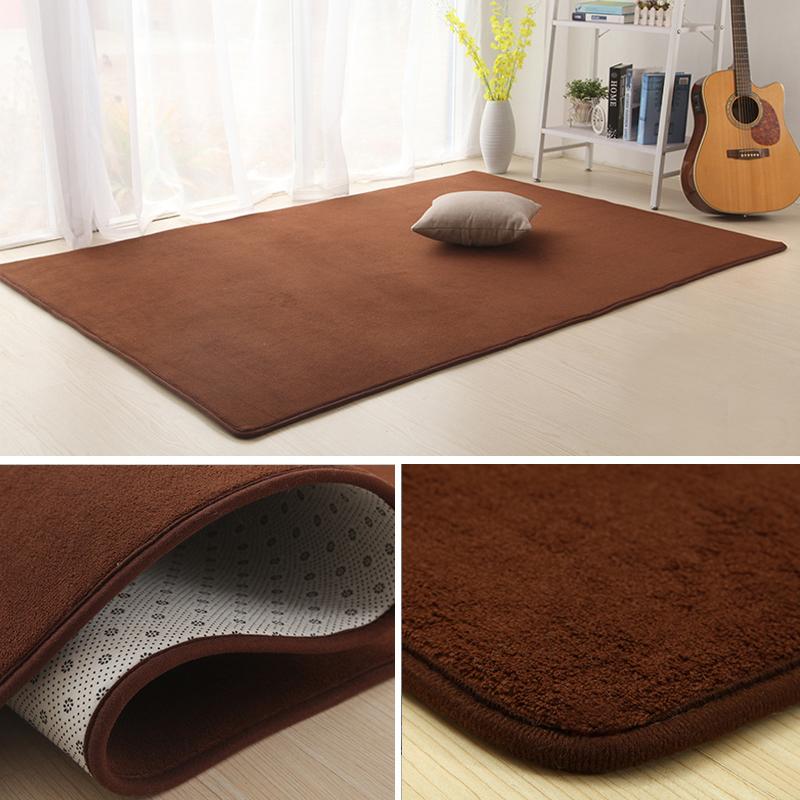 The kitchen covered with coral fleece coral velvet carpet carpet European modern minimalist tatami mats antiskid mat door