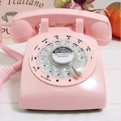 经典老式转盘电话机旋转拨号复古电话仿古办公家用固话座机金属铃