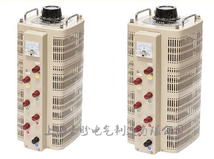 O regulador de tensão trifásico transformador de bobina de Cobre 9KW TSGC2-9KVA 0-430V450V460 regulador de pressão ajustável