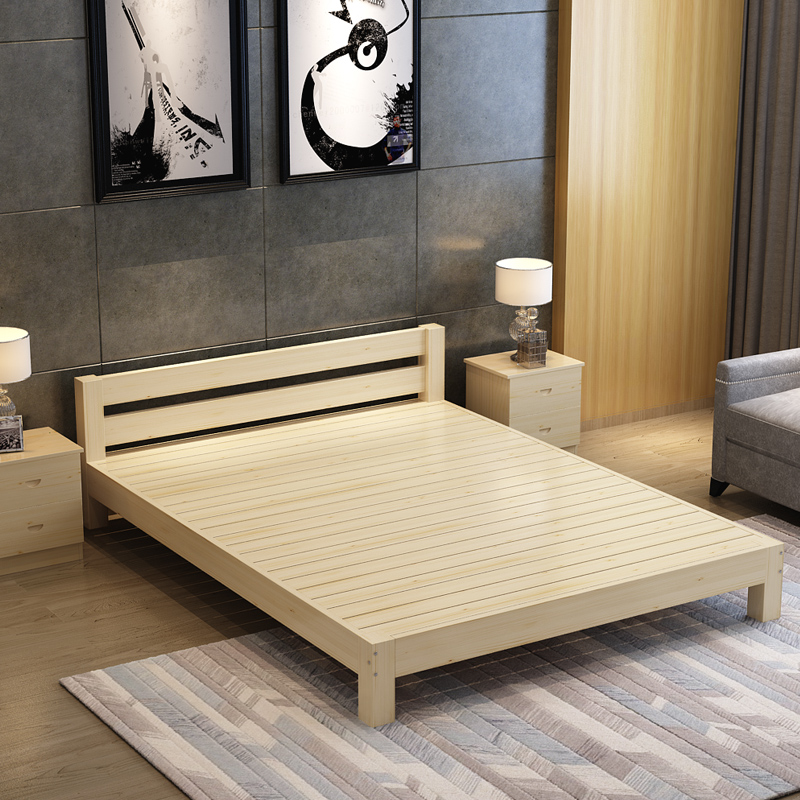 The new pine wood single double beds and 1.2 rooms 1.5 tatami bed 1.8 meters without simple bed bed