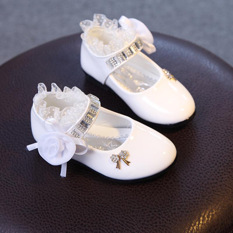 童鞋女童单鞋中大童女孩公主鞋韩版软底小高跟皮鞋2017春秋款演出