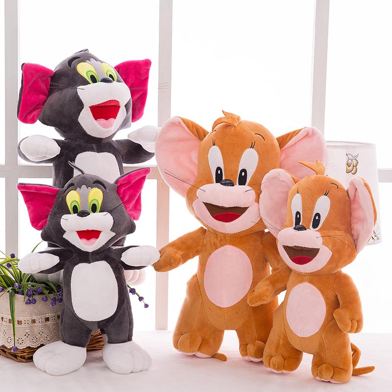 Η γάτα και το ποντίκι νέα 2 ετών τομ και τζέρι κούκλα κούκλα κούκλα σε ακριβά παιχνίδια δώρα για τα παιδιά