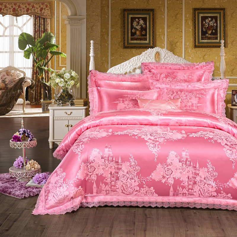 Cathy and Satin Jacquard four piece silk satin - City exotic Princess Zhongxiang is silky