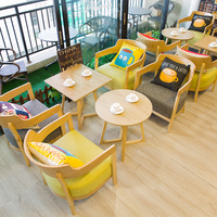 Cafe sofa chairs combination tea shop sofa seat theme restaurant dessert bakery chair