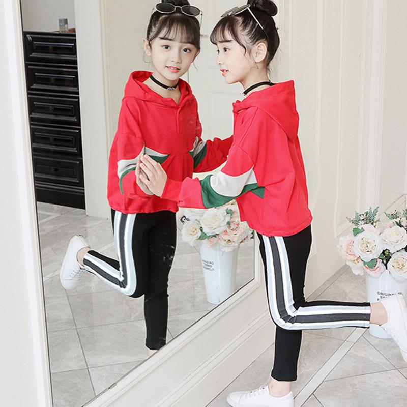 女童秋装套装2019年新款网红洋气女孩运动儿童春秋季时髦抖音童装
