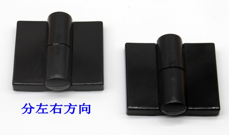 Public toilet door bathroom partition hardware fittings automatic return hinge black plastic laminated door hinge