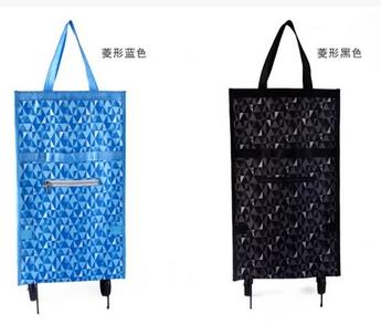 买菜包手拉可折叠便携拖轮包带轮子购物车拖轮包方便妈妈买菜包