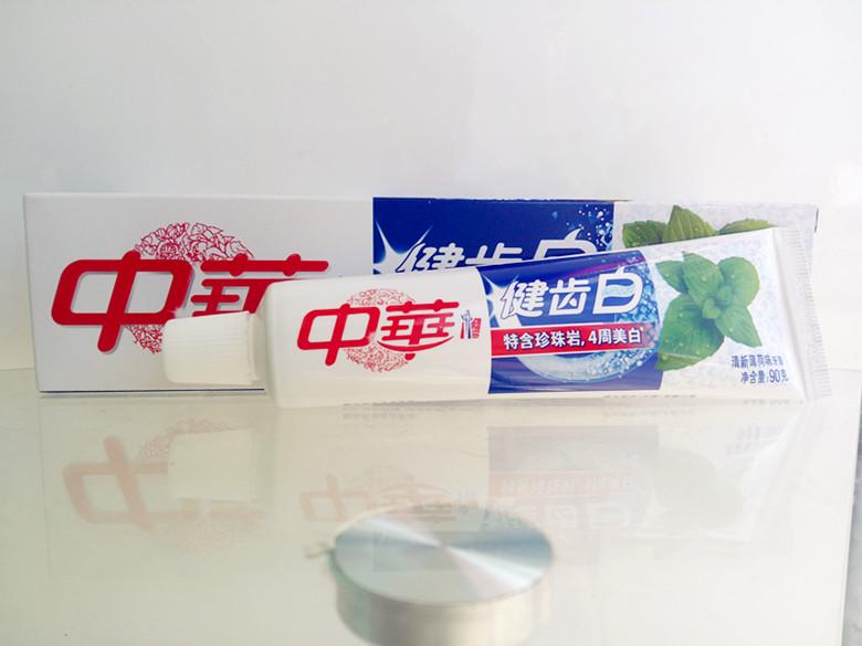 【 중화 똑바로 치약 건치 흰 시리즈 청신하다 박하맛 90g 청신하다 말투 가서 입냄새 9 자루 가방 우편 이다