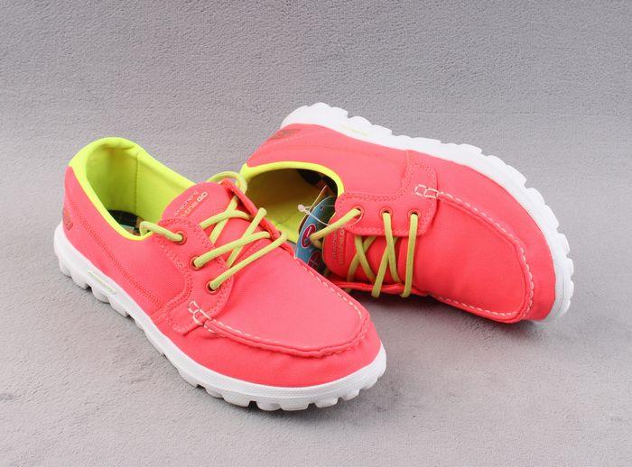 斯家豆豆純色帆船女鞋繫帶戶外休閑鞋輕便舒適豆豆鞋