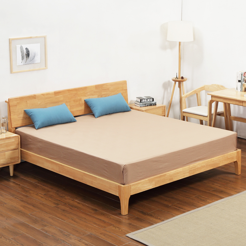 All solid wood beds, log furniture, single 1.5m special double bed, 1.8 meter children's princess, big oak, Nordic bed