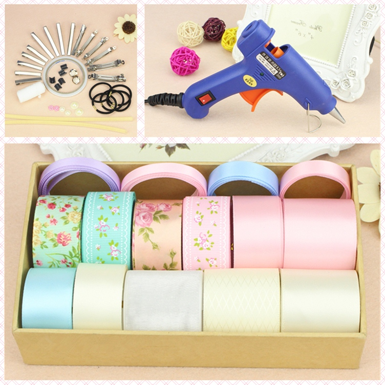 Novice manual hair ribbon DIY package to do hair flower headdress hairpin bow package material