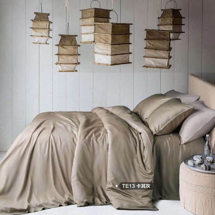 The natural color of four sets of 60 double Tencel linen quilt bedding four piece silk bedding naked
