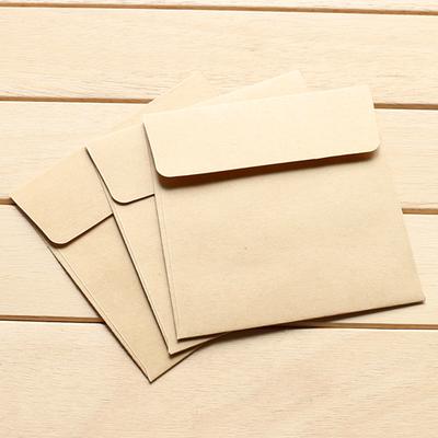 信封小号牛皮纸包新银行卡收纳小 100个方形会员卡迷你卡套 其他