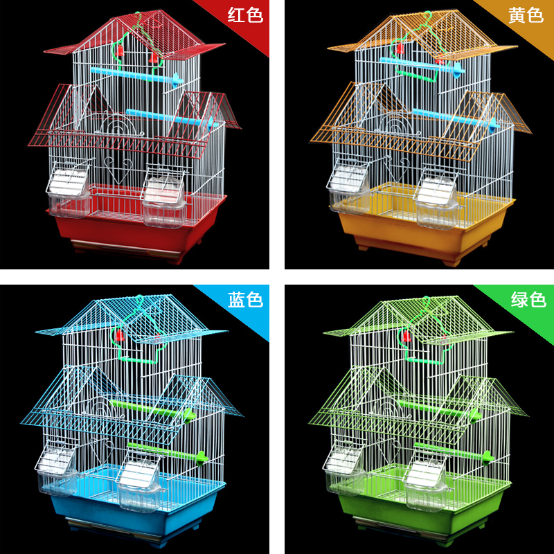 A full set of domestic thrush bird homemade parrot heater bird cage white breeding iron accessories material