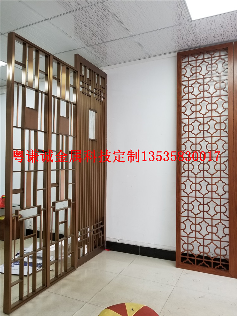 Custom European partition door, stainless steel screen, creative partition, hollowed out screen, carved pattern