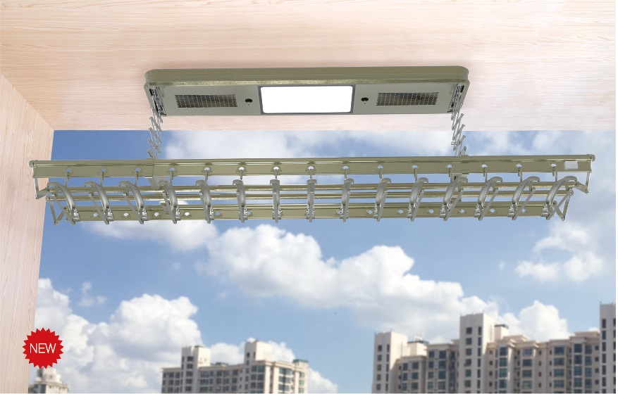 Panpan electric airer balcony four electric remote control rod type lifting airing frame heightening balcony custom