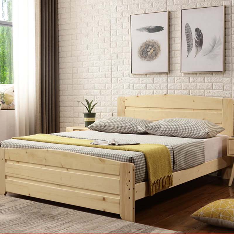 1.5 meters north of the master bedroom bed Ousong wooden shelf bed single bed thicker bold 1.2m