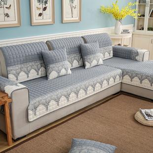 沙发垫四季通用防滑布艺真皮沙发套罩全盖棉麻透气清仓特价可机洗