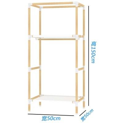 单人简易空间简约现代经济型实木板式省组装宿舍衣柜布艺衣橱空间